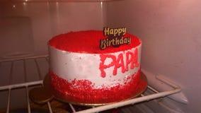 Torta del terciopelo de la torta del día del ` s del padre fotos de archivo