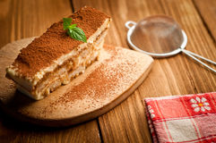 Torta del Tiramisu fotografía de archivo libre de regalías
