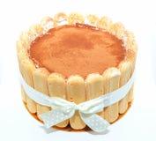 Torta del Tiramisu Imagen de archivo libre de regalías