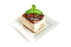 Torta del tiramisu del chocolate Fotos de archivo