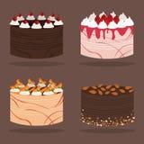 Torta del vector Foto de archivo libre de regalías