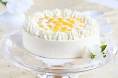 Torta del yogur con las naranjas fotografía de archivo