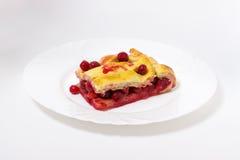 Torta deliciosa da cereja Fotos de Stock Royalty Free