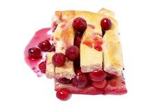 Torta deliciosa da cereja Foto de Stock