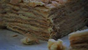 Torta deliciosa de la Navidad almacen de metraje de vídeo