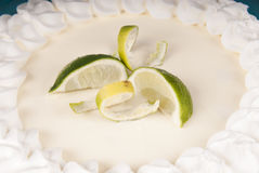 Torta deliciosa fresca do cal chave Foto de Stock