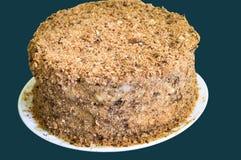 Torta deliciosa Napoleon del soplo Fotografía de archivo