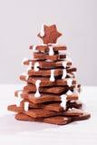 Torta dell'albero di Natale immagini stock libere da diritti