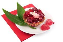 Torta della bacca con gelatina Immagini Stock Libere da Diritti