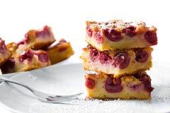 Torta della ciliegia Fotografie Stock