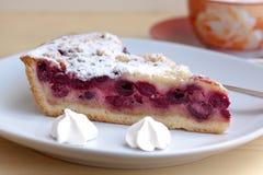 Torta della ciliegia con i biscotti di zucchero fotografie stock libere da diritti