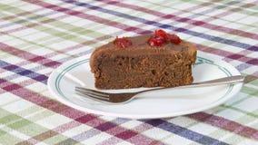 Torta della ciliegia del cioccolato Fotografia Stock