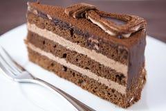 Torta della crema del cacao Fotografie Stock
