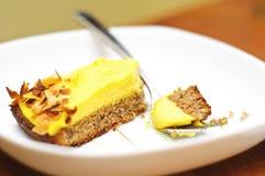 Torta della crema dell'uovo Immagini Stock Libere da Diritti