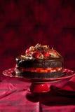 Torta della fragola del cioccolato Fotografia Stock
