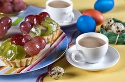 Torta della frutta di Pasqua Fotografie Stock