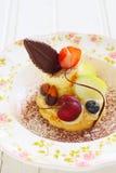 Torta della frutta fresca Fotografia Stock