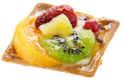 Torta della frutta sopra bianco Fotografia Stock Libera da Diritti