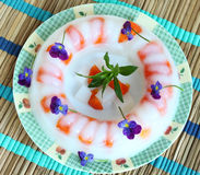Torta della gelatina dell'agar Fotografie Stock Libere da Diritti