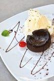 Torta della lava del cioccolato Immagine Stock