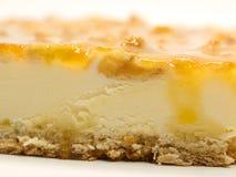 Torta della mela con crema Immagine Stock