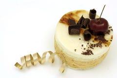 Torta della mousse della caramella e della pera Fotografia Stock