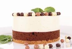 Torta della mousse di cioccolato Fotografia Stock