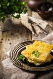 Torta dello zucchini, quiche Fotografie Stock Libere da Diritti
