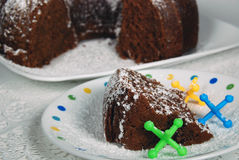 Torta di Bundt del cioccolato Immagine Stock Libera da Diritti