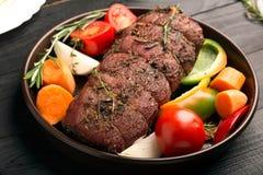 Torta di carne con la patata fotografie stock