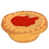 Torta di carne con salsa al pomodoro illustrazione di stock