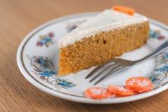 Torta di carota Fotografia Stock