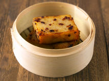 Torta di carota fritta asiatica Fotografia Stock