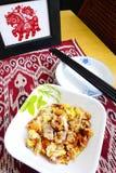 Torta di carota fritta cinese Fotografia Stock Libera da Diritti
