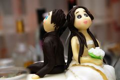 Torta di cerimonia nuziale Fotografia Stock