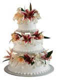torta di cerimonia nuziale di 3 strati Immagini Stock