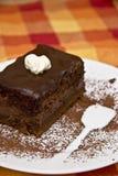 Torta di Chocholate Fotografia Stock Libera da Diritti