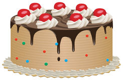 Torta di cioccolato Fotografia Stock