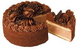 Torta di cioccolato Fotografie Stock