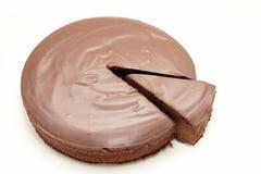 Torta di cioccolato Fotografie Stock Libere da Diritti