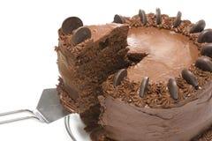 Torta di cioccolato immagini stock