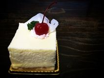Torta di cioccolato bianca Immagini Stock Libere da Diritti