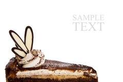 Torta di cioccolato con guarnizione di lusso Immagine Stock Libera da Diritti