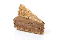Torta di cioccolato con le decorazioni immagine stock