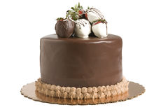 Torta di cioccolato con le fragole immagine stock libera da diritti