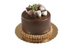 Torta di cioccolato con le fragole fotografie stock
