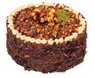 Torta di cioccolato con le nocciole Fotografie Stock Libere da Diritti