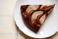 Torta di cioccolato con le pere Immagine Stock Libera da Diritti