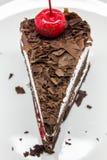 Torta di cioccolato isolata fotografia stock