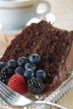 Torta di cioccolato organica fotografia stock